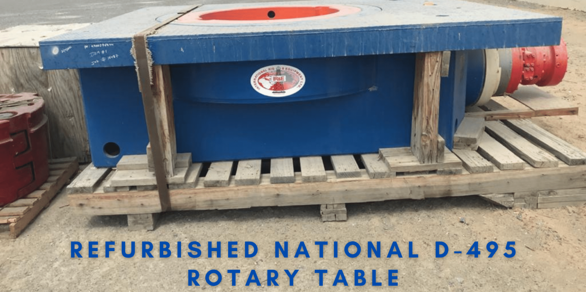 Refurbished National D-495 Rotary Table For Sale Complete With Ring